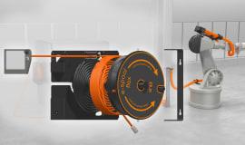 e-spool flex: nowy zwijacz kablowy od igusa