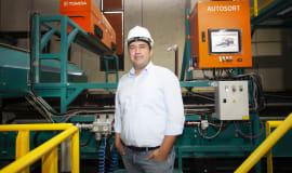 Burkasan has chosen Tomra's sorting technology to recycle HDPE bottles in its new plant