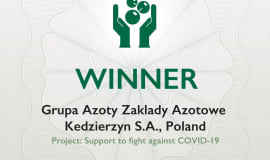 Grupa Azoty ZAK S.A. pierwszym polskim laureatem European Responsible Care Award