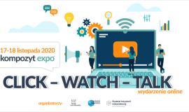 Click-Watch-Talk Kompozyt-Expo - integracja branży w nowej rzeczywistości