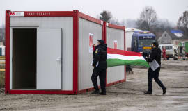 MOL provides mobile homes and sanitation to Croatian earthquake victims