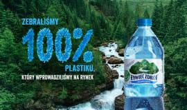 Żywiec Zdrój zebrał 100% plastiku, który wprowadził na rynek