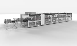 A new KHS machine processes can toppers made of cardboard