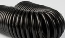 Technical pipes and hoses of impact-resistant modified Hostaform POM