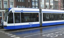 The first polyurethane tram front end meeting EU fire safety standards