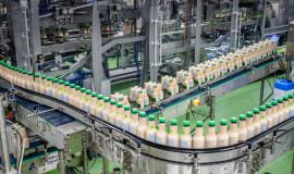 Przełomowy układ linii do pakowania kwadratowych butelek