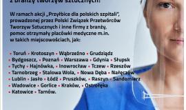 Prawie pół miliona przyłbic ochronnych wspomogło polskie szpitale