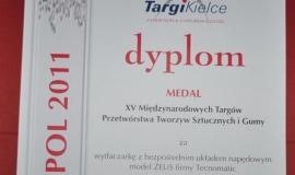 Medal Targów Kielce dla firmy PTC