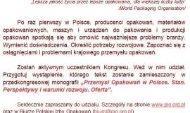 Polska Izba Opakowań przygotowuje I Kongres Przemysłu Opakowań