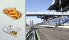 BASF's biodegradable plastic ecovio FS Paper performance during the ADAC Masters Weekend motorsport event