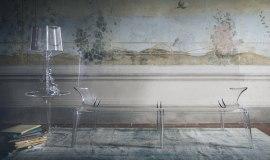 Przezroczyste meble z tworzywa Lexan