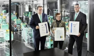 Certification: Training at Arburg gets treble thumbs up