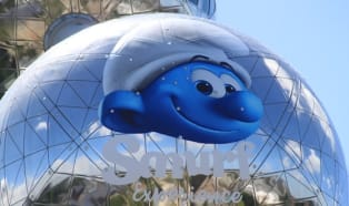 On their 60th birthday, the Smurfs are flying high