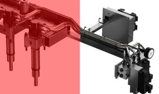 Innovative mechanical stroke regulator for hydraulic driven valve gate systems