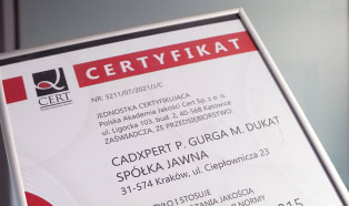 CadXpert z certyfikatem ISO 9001:2015