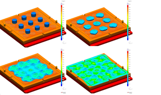 Simulate compression molding for the first time