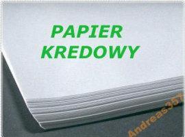 Papier kredowy - niezadrukowany