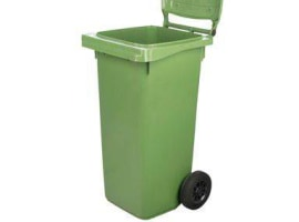 HDPE trash cans.
