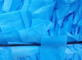 150102 HDPE folia niebieska/