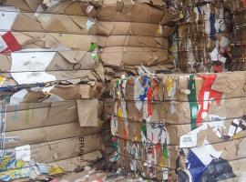 Waste paper. Cardboard