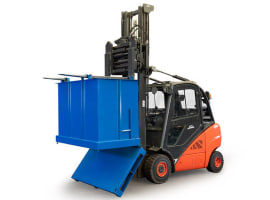Self-unloading containers