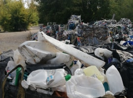 HDPE plastic waste
