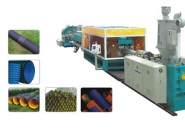 Extrusion line for corrugated