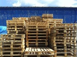Wooden pallets measuring