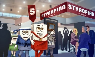 Styropian Men na targach BUDMA