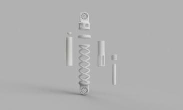 3D-printed shock absorber