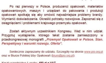 Polska Izba Opakowań przygotowuje
