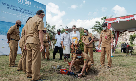 Project STOP: Construction starts on waste processing facility in Bali