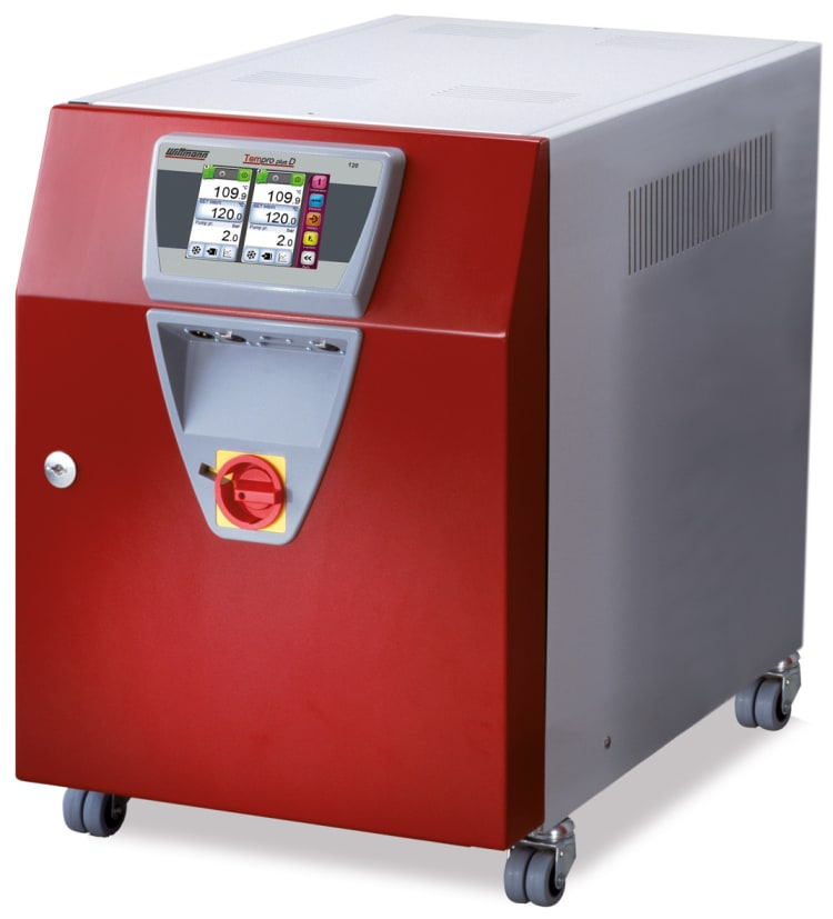 WITTMANN TEMPRO plus D120 pressurized temperature controller with direct cooling.