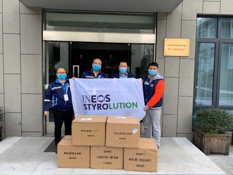 ineos-styrolution-donates-face-masks