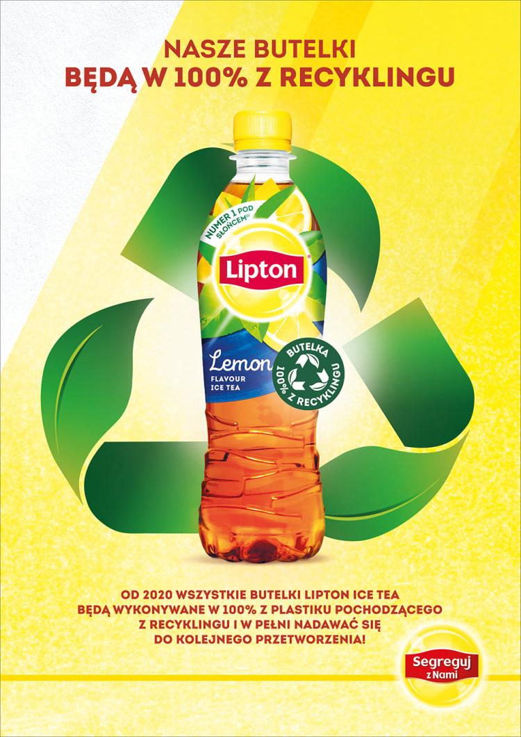 Lipton butelka rPET
