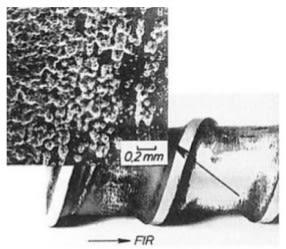 Efekt zużycia powierzchni ślimaka wykonanego ze stali azotowanej