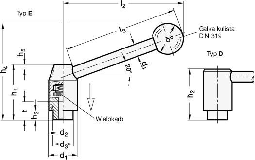 Budowa mechanizmu dźwigni nastawnej bezpiecznej na przykładzie GN 312