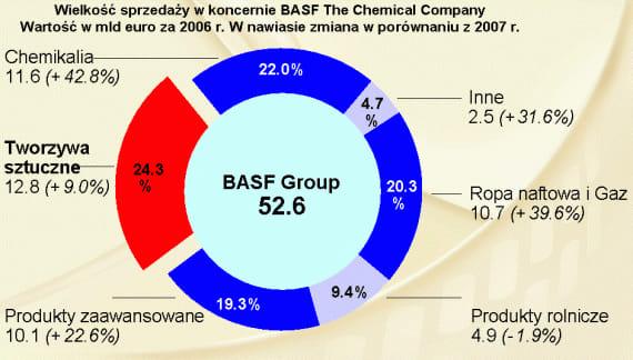 Struktura sprzedaży BASF The Chemical Company