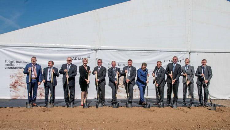 Groundbreaking ceremony for the new sunliquid plant in Craiova/Romania