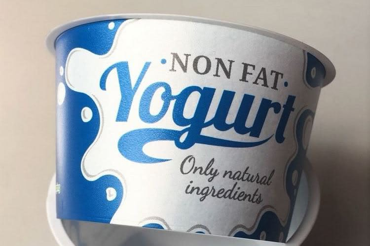 IML lightweight technology: yoghurt pots