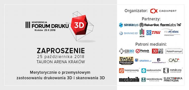 forum druku 3d zaproszenie