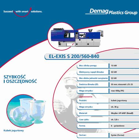 szybkobieżna wtryskarka o napędzie hybrydowym z serii ELEXIS