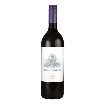 Fog Mountain Merlot in a 1-L PET bottle made of oxygen-scavenging material
