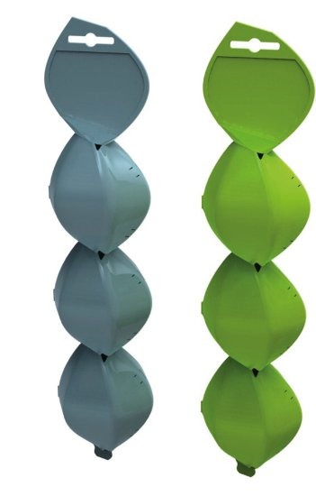 """Droplet, an injection-moulded product which encases several tulip bulbs in breakaway sections for """"clean"""" individual planting"""