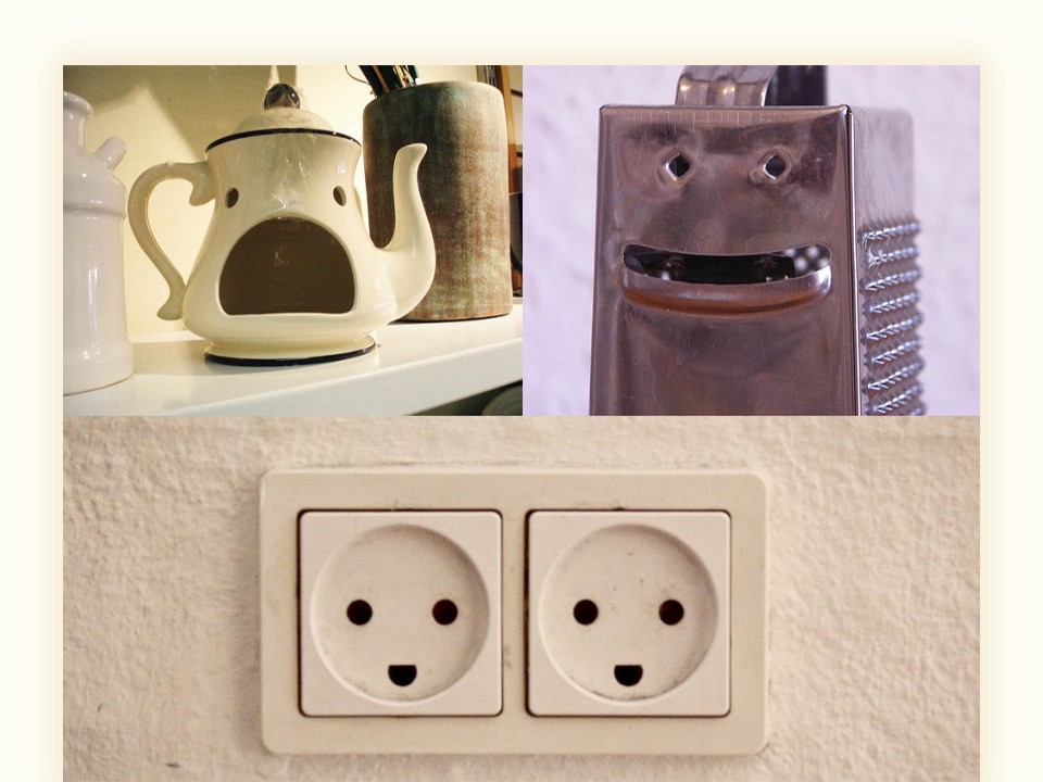 Do you see faces in these objects?