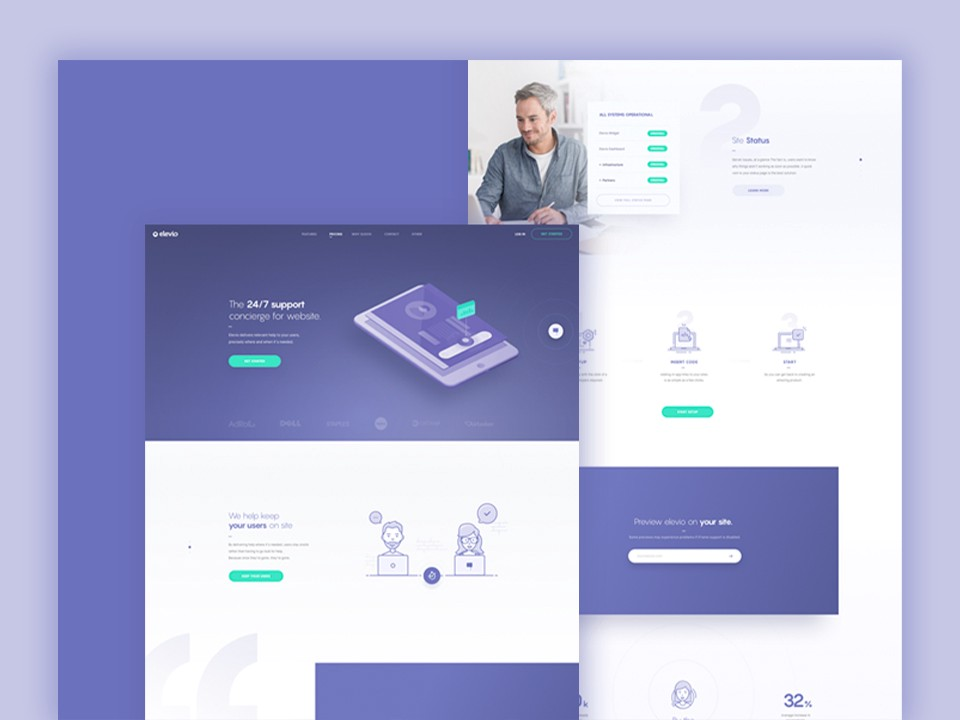 Above is an example of how we incorporated faces into our designs for Elev.io.