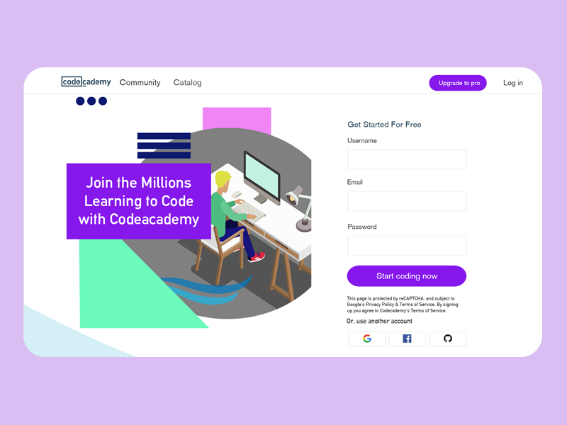 Design of CodeAcademy by Ch David