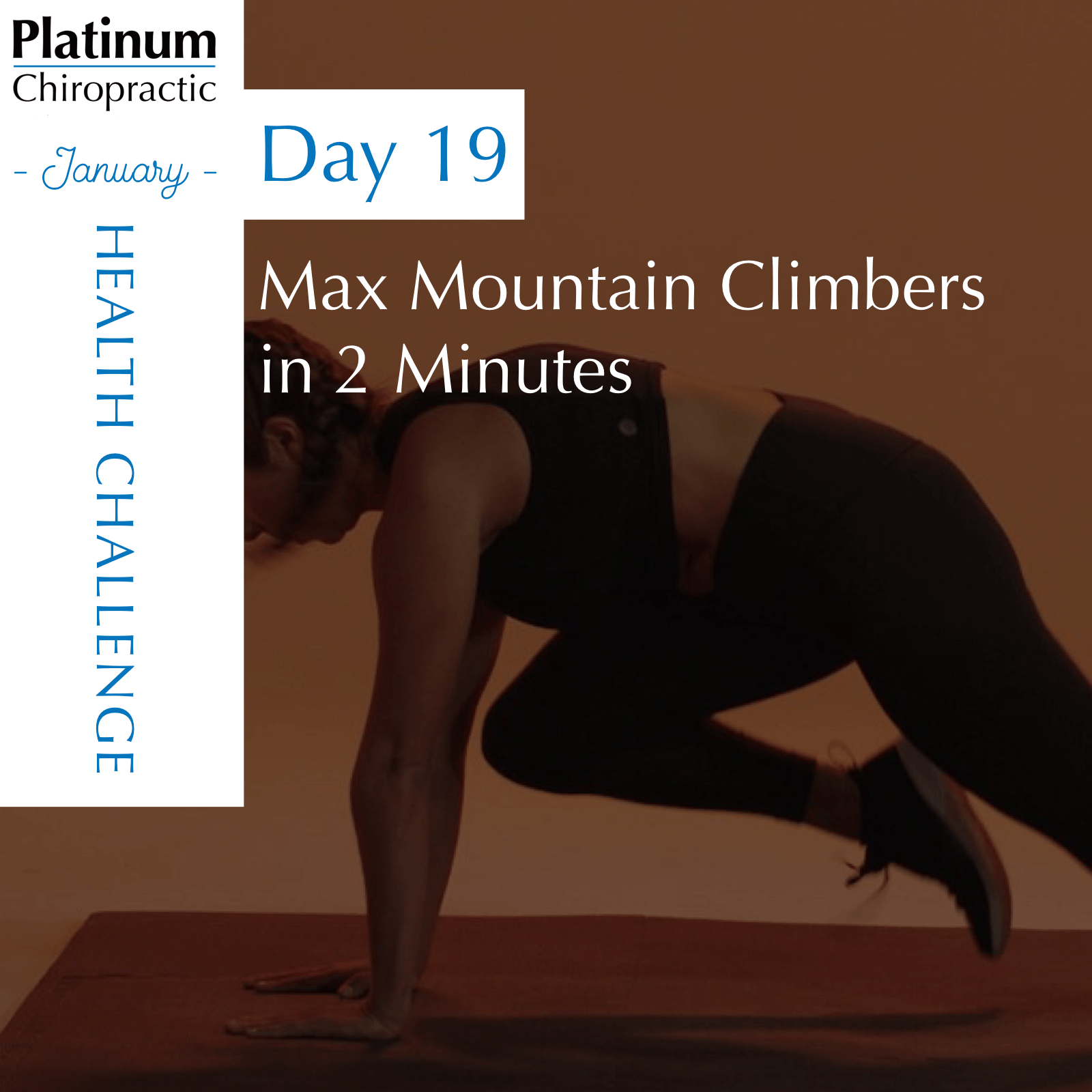 This challenge is for YOUR max. Go as slow or as fast you can handle. Just give it your best and keep moving.