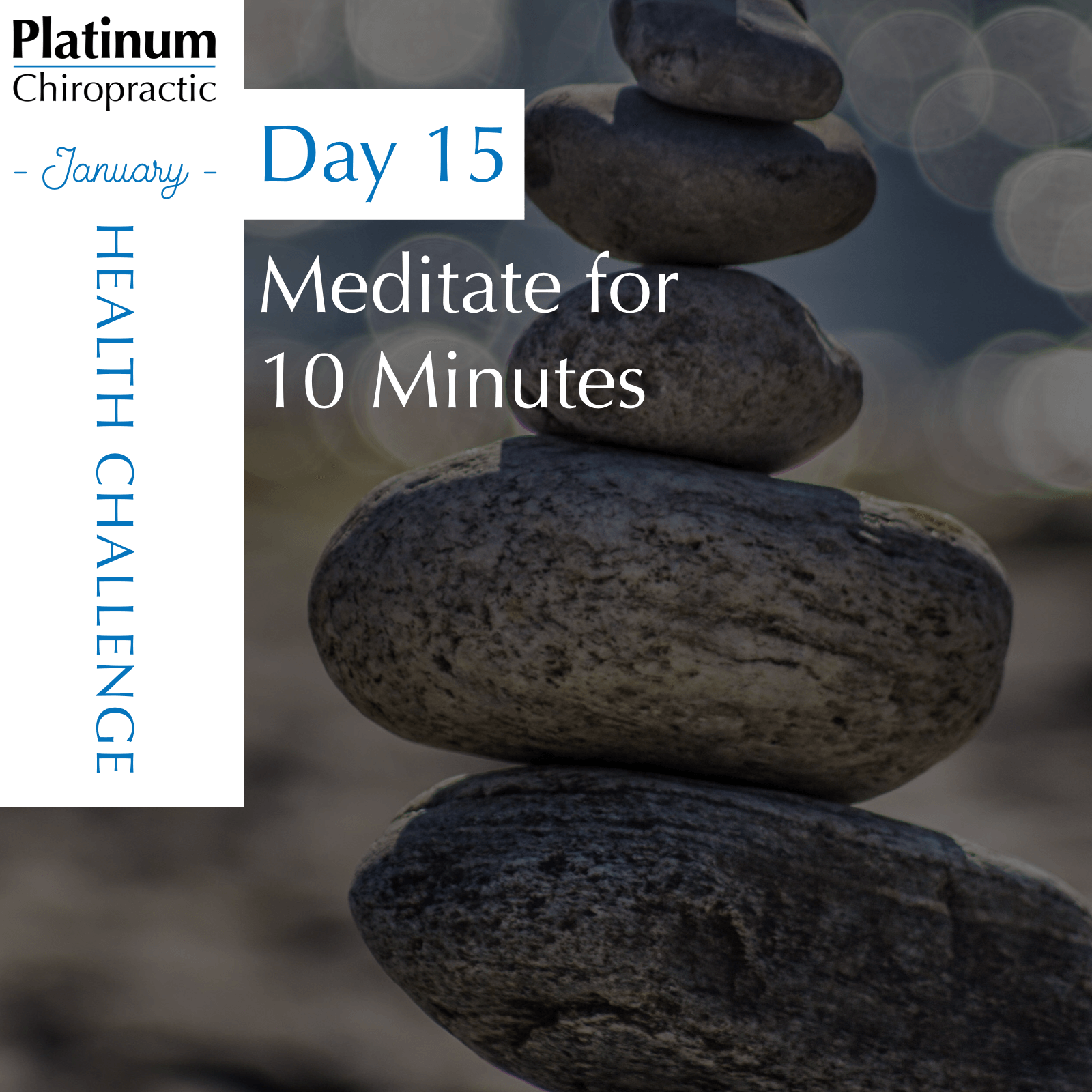 Meditation Tips:  1) Sit how you are comfortable. Find a posture you can stay in for 10 minutes. That might mean sitting on the floor, or in a chair. However we recommend not laying down, as it tends to lead to falling asleep!  2) Try slowing your breathe. Breathe in for a count of 4, hold for a count of 4, exhale for a count of 4, hold for a count of 4. Repeat in sets of 4.