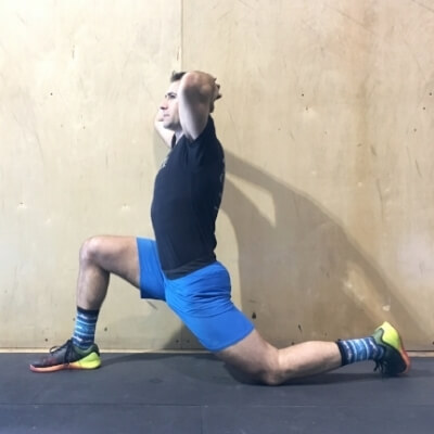 Variation 2: targets your iliopsoas by tucking your pelvis and tailbone under.